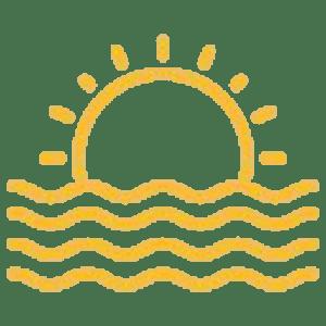 ikona z zachodem słońca